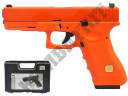 HG185 Gas Blowback Airsoft BB Gun Black and Orange